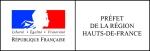 Bloc marque Horizontal Préfet région Hauts-de-France CMJN
